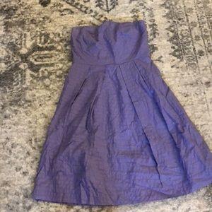 Strapless lavender J-Crew dress